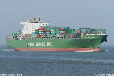 CSCL Long Beach - 02.04.2011, Cuxhaven